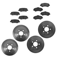 07-11 Dodge Nitro; 08-12 Jeep Liberty Front & Rear Semi-Metallic Brake Pad & Rotor Kit