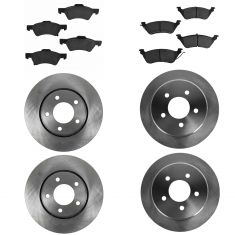 01-07 Chrysler Town & Country, Caravan, Grd Caravan Front & Rear Ceramlic Brake Pad & Rotor Kit