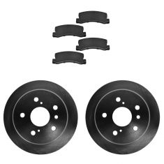 Rear Ceramic Disc Brake Pads (CD325) & 2 Rotor Kit for Toyota Solara