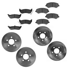 03-07 Jeep Liberty Front & Rear Semi-Metallic Brake Pad & Rotor Kit