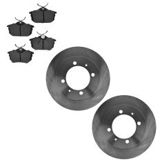 00-03 Volvo S40 V40; 04 S40 V40 1.9L Rear Disc Brake Rotor & Metallic Pad Kit