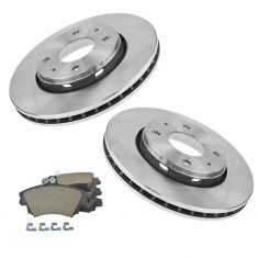 00-03 Volvo S40 V40; 04 S40 V40 1.9L Front Disc Brake Rotor & Ceramic Kit