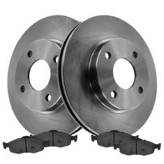 95-97 Contour; 98-00 Contour(exc SVT); 95-00Mystique; 99-02 Cougar260mm) Ft Rotor & Metallic Pad Kit