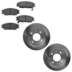 00-05 Hyundai Accent; 06 Accent (3 and 5 Door) Front Disc Brake Rotor & Ceramic Pad Set