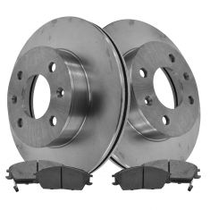 00-05 Hyundai Accent; 06 Accent (3 and 5 Door) Front Disc Brake Rotor & Metalic Pad Set