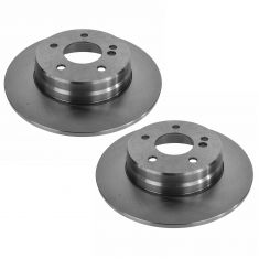 96-07 MB C; 99-09 CLK; 96-02 E; 05-11 SLK Series Rear Disc Brake Rotor Pair