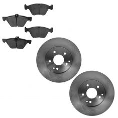 04-08 Crossfire; 03-07 MB C; 99-09 CLK; 96-02 E; 01-11 SLK Front Disc Brake Rotor & Metallic Pad Set