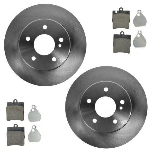 2003 mercedes benz c240 brake pads rotors replacement for Mercedes benz rotors and pads
