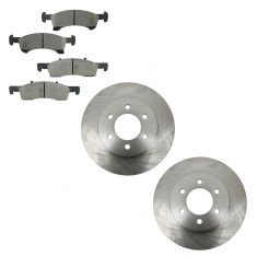 03-06 Ford Expedition; Lincoln Navigator Front Brake Rotors & CERAMIC Brake Pad Kit