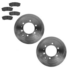 93-97 Land Cruiser; 98 Land Cruiser w/4.5L; 96-98 Lexus LX450 Rear Brake Rotor & Ceramic Pad Kit