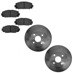 06-14 Toyota Yaris; 12-14 Prius C Front Disc Brake Rotor & Semi-Metallic Pad set