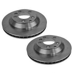 07-14 Audi Q7; 03-06, 08-13 Porsche Cayenne; 04-08 VW Touareg Rear Disc Brake Rotor Pair