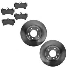 07-14 Audi Q7; 03-06, 08-13 Cayenne; 04-08 VW Touareg Front Disc Brake Rotor & Ceramic Pad Kit