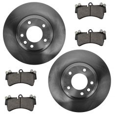 07-14 Audi Q7; 03-06, 08-13 Cayenne; 04-08 VW Touareg Front Disc Brake Rotor & Metallic Pad Kit