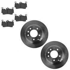 07-14 Audi Q7; 03-06, 08-13 Cayenne; 04-08 VW Touareg Rear Disc Brake Rotor & Metallic Pad Kit