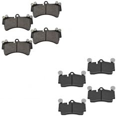 Front & Rear Metallic Brake Pads for Audi Q7 VW Touareg Porsche Cayenne