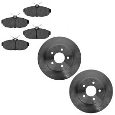 05-12 Ford Mustang; 13-14 Mustang (w/11.8 Inch Dia) Rear Disc Brake Rotor & Metallic Pad