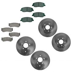 07-09 Hyundai Sante Fe Ceramic Brake Pad & Rotor Kit FRONT & REAR
