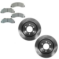 07-12 Expedition, Navigator; 10-12 F150 (w/6 Lug Whl) Front Brake Rotor & Metallic Pad Kit