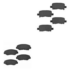03-08 Honda Pilot Front & Rear Ceramic Brake Pad Kit