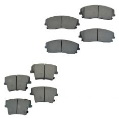 05-10 Dodge Chrysler Front & Rear Semi-Metallic Brake Pad Set