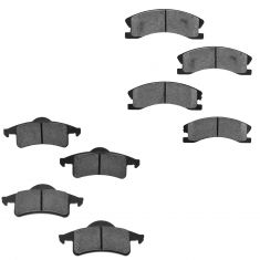 01-02 Acura MDX; 02-04 Honda Odyssey Front & Rear Semi Metallic Disc Brake Pads Set