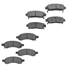 08-14 Buick Enclave;  09-14 Traverse; 07-14 Acadia; 07-10 Outlook Front & Rear Ceramic Brake Pad Set