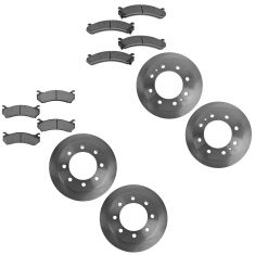 01-10 Chevy 2500; 01-07 3500 SRW Front & Rear Brake Rotor & Metallic Pad Kit