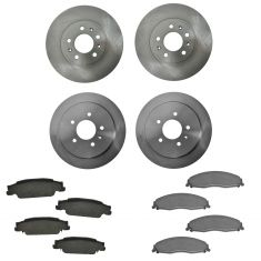 03-07 Cadillac CT Front & Rear Ceramic Brake Pad & Rotor Set