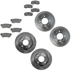 01-04 Sonata; 01-02 Optima front & Rear Ceramic Brake Pad & Rotor Kit