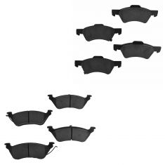 01-07 Town & Country, Caravan, Grand Caravan Front & Rear Ceramic Brake Pad Kit