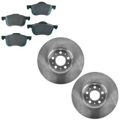 01-09 S60; 99-06 S80; 01-07 V70; 03-07 XC70 Ceramic Brake Pad & Rotor Set