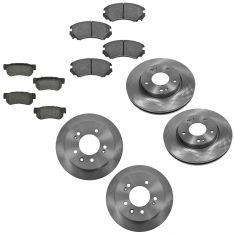 07-10 Hyundai Elantra Front & Rear Disc Brake Rotor and Ceramic Brake Pad Set