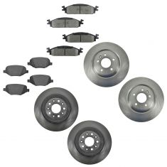 10-11 Flex, Taurus, MKS, MKT Front & Rear Ceramic Pad & Rotor Kit