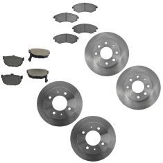 02-06 Hyundai Elantra Front & Rear Posi Metallic Brake Pad & Rotor Kit