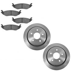 02-04 Dodge Ram 1500 Rear Ceramic Brake Pad & Rotor Kit