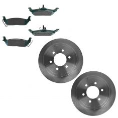 04-10 Ford F150; 06-08 Lincoln Mark LT Rear Disc Brake Rotor & Premium Posi Ceramic Pads