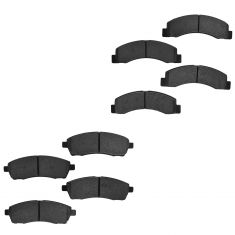00-05 Excursion; 99-04 F250 F350 SD Front & Rear Premium Posi Semi Metallic Disc Brake Pads