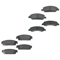 08-13 Chevy GMC Cadillac Front & Rear Premium Posi Ceramic Disc Brake Pads