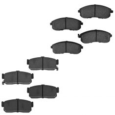 93-01 Nissan Infiniti Multifit Front & Rear Semi Metallic Disc Brake Pad Set