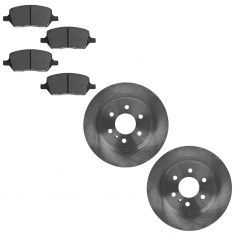 06-09 Buick Chevy Pontiac Saturn SUV Rear Disc Brake Rotor & Premium Posi Ceramic Pads Set