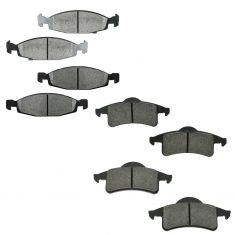 99-02 Jeep Grand Cherokee (w/ Teeves Calipers) Front & Rear Premium Posi Semi Metallic Brake Pads