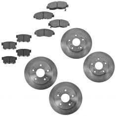 06-11 Honda Civic EX Front & Rear Disc Brake Rotor with Ceramic Pad Set