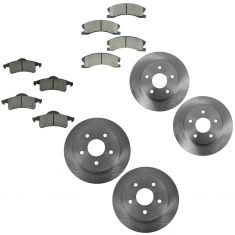 99-04 Jeep Grand Cherokee Front & Rear Disc Brake Rotor with Ceramic Pads Set