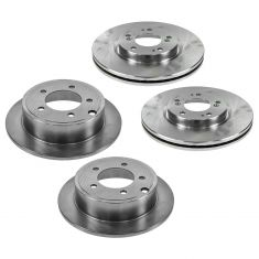 07-10 Chrysler, Dodge, Jeep, Mitsubishi Multifit Front & Rear Disc Brake Rotor Set