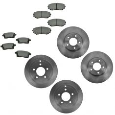 07-09 Edge; 07-09 MKX FWD Front & Rear Disc Brake Rotor w/ Premium Posi Semi Metallic Pads