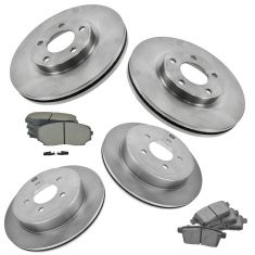 07-09 Edge; 07-09 MKX FWD Front & Rear Disc Brake Rotor w/ Semi Metallic Pads
