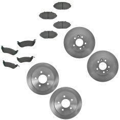 98-02 Crown Vic; Grand Marquis; Town Car Front & Rear Disc Brake Rotor w/ Ceramic Pads