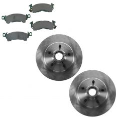 1990-02 Astro Safari Brake Posi Ceramic Pad & Rotor Kit Front (Except AWD Models)