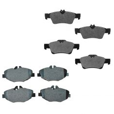 03-09 Mercedes Benz E320 E350 Front & Rear Semi Metallic Disc Brake Pads